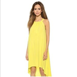 {SPLENDID} Bright Yellow High  Low Dress